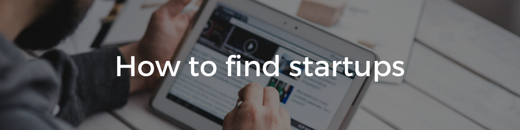 How to find startups